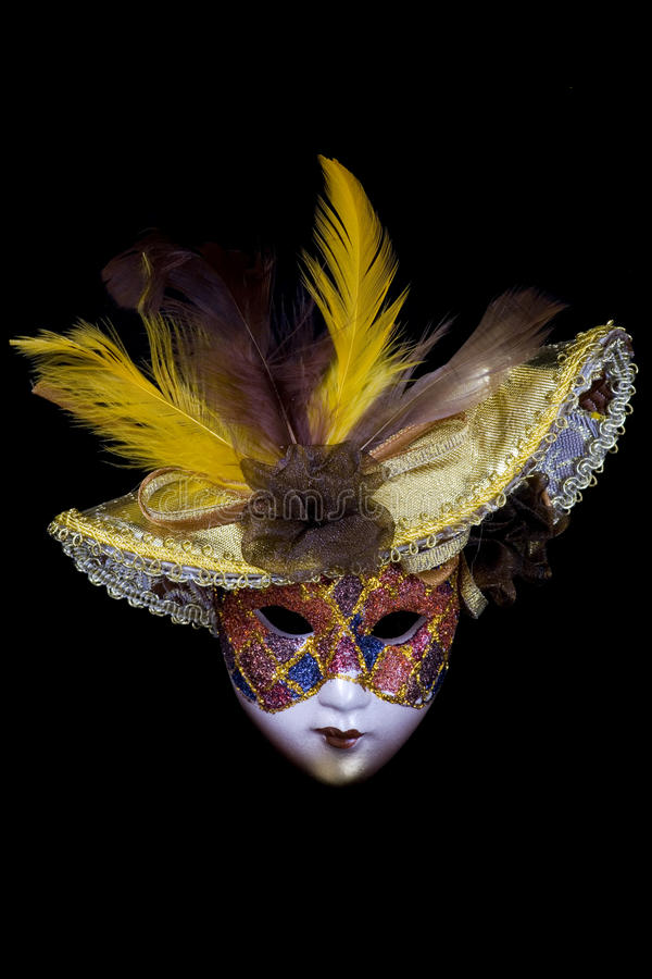 Download Mask on a black background stock photo. Image of costume - 14027874