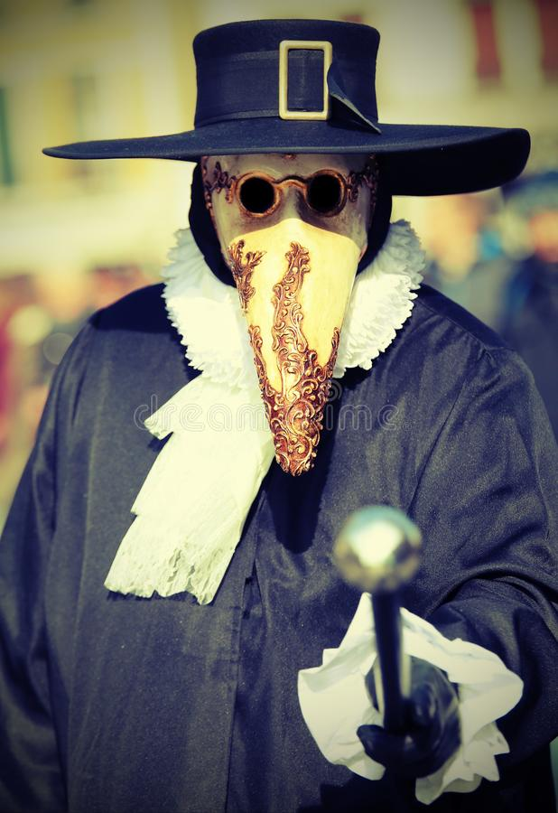 mask called Plague doctor costume and the long beak served as a stock image