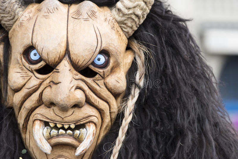 Beast Mask at carnival stock image