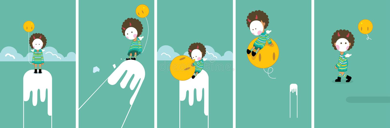 Mask child vector illustration