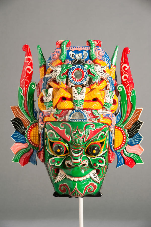 Mask of Chinese theater. Mask of the traditional Chinese theater royalty free stock photography