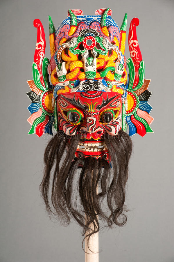 Mask of Chinese theater. Mask of the traditional Chinese theater royalty free stock photo
