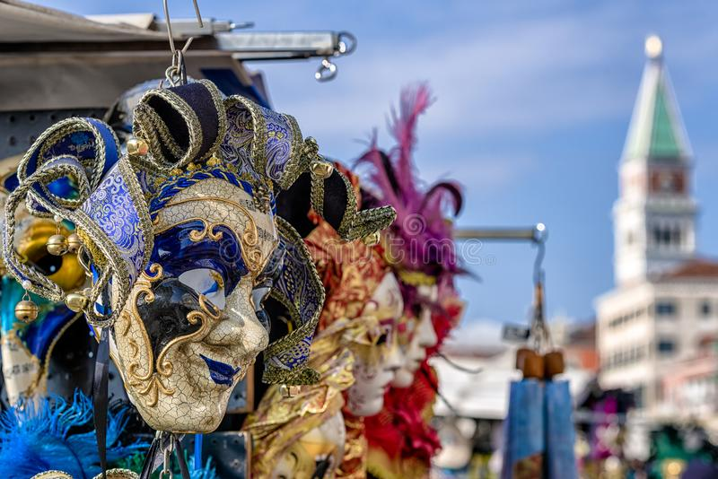 Mask of clown at Venice carnival 2018 stock images