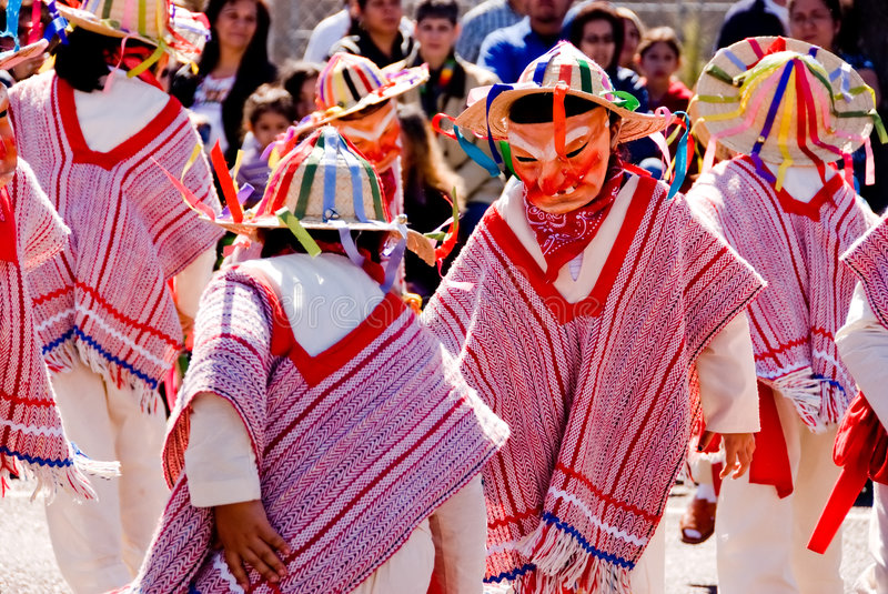 Mask dance on charro day 2 royalty free stock images