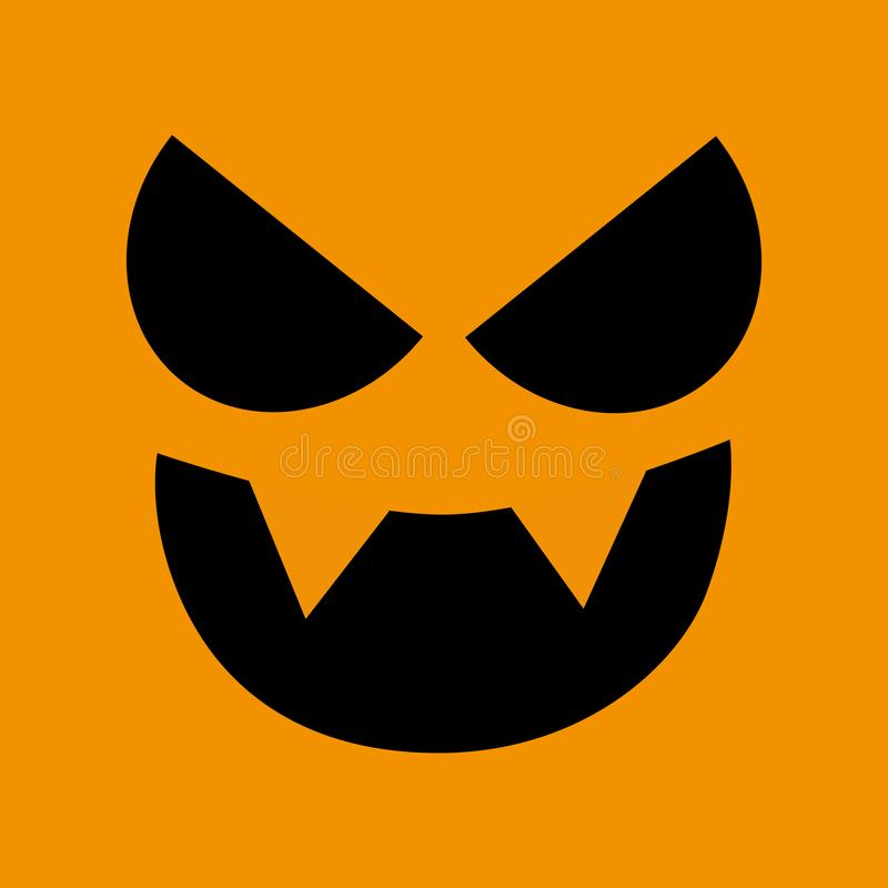 Mask of Halloween scary pumpkin. Template, gift, poster, greeting card style vector spooky and creepy pumpkin. stock illustration