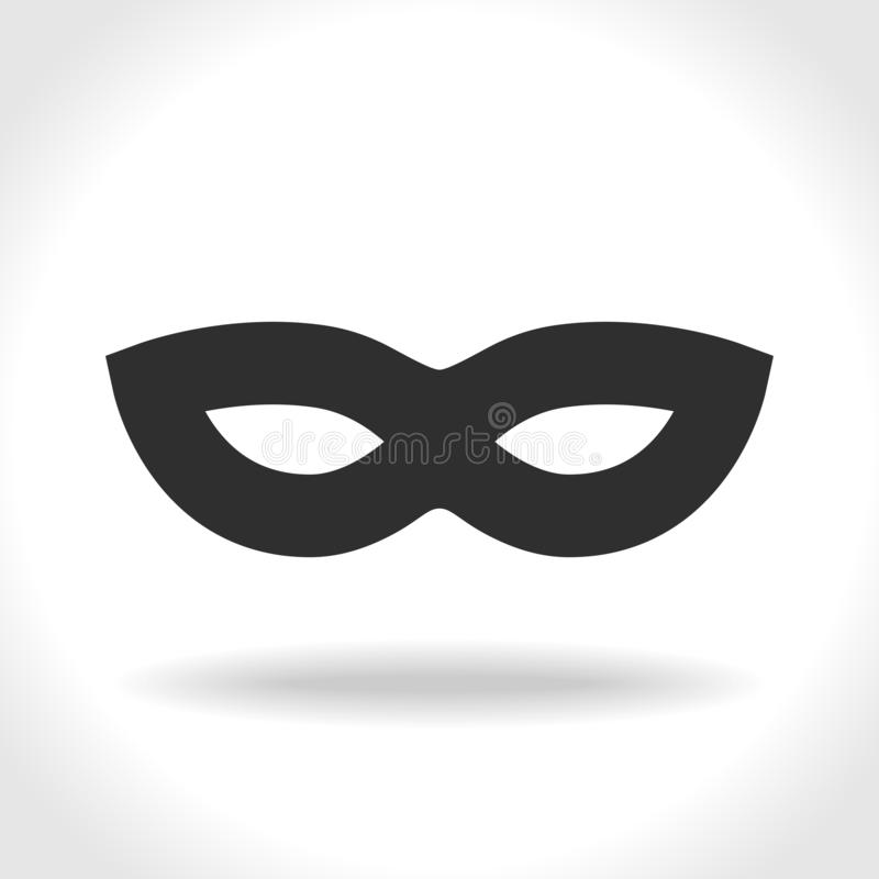 Mask incognito black icon vector illustration