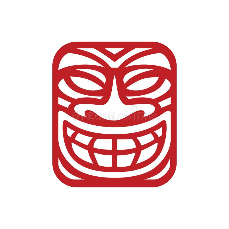 Mask Logo Inspiration for traveling agencies, tropical bar, tribe modern culture business. This is logo inspiration yet suitable for company that running in royalty free illustration