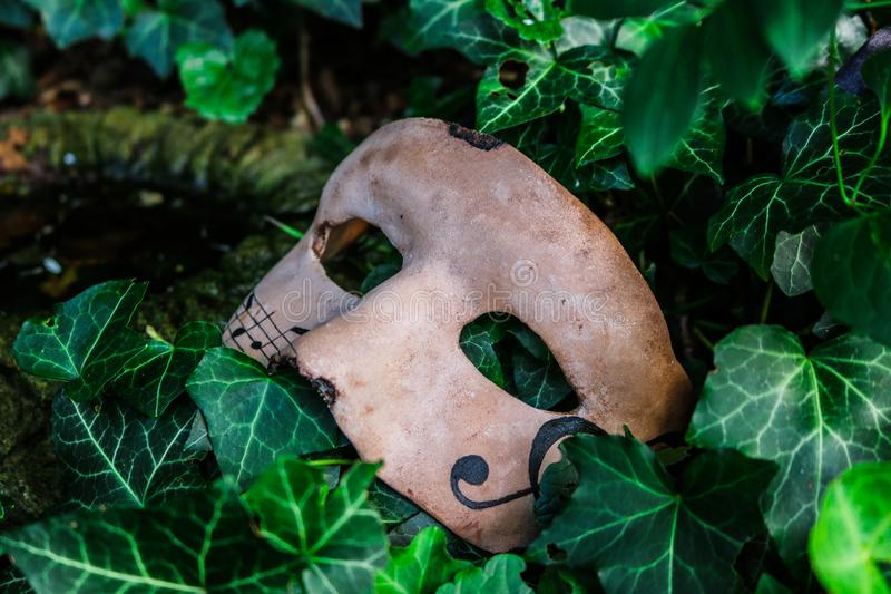 Mask with music notes royalty free stock image