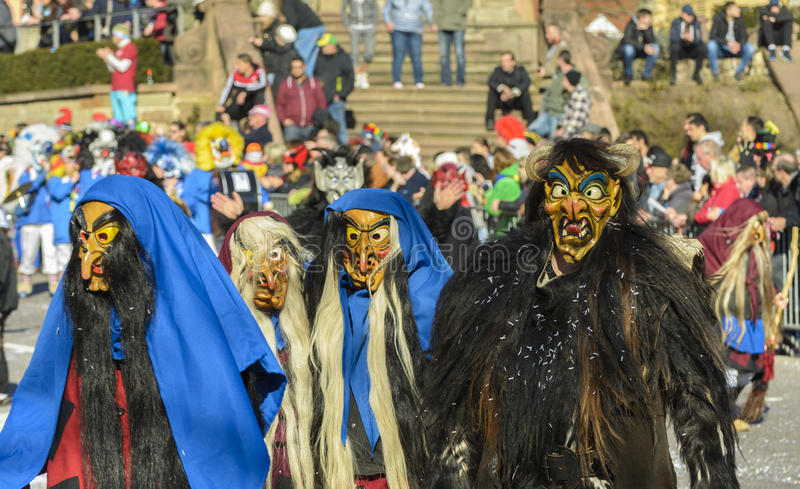 Mask parade Fasnacht in Rastatt, Germany stock image