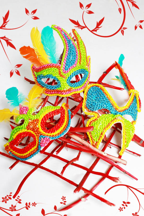 Mask. The mask that people use for celebration and parties like balls and luxuries gathering royalty free stock photo