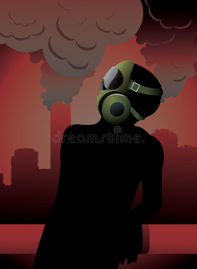 Download Mask for polution stock vector. Image of future, shape - 19827883