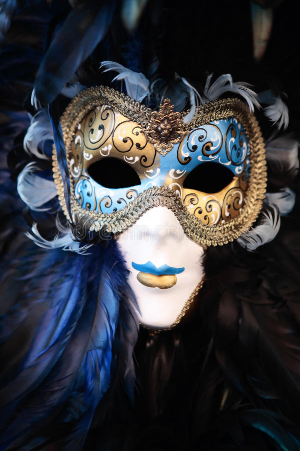 Mask portrait carnival of venice italy stock photo