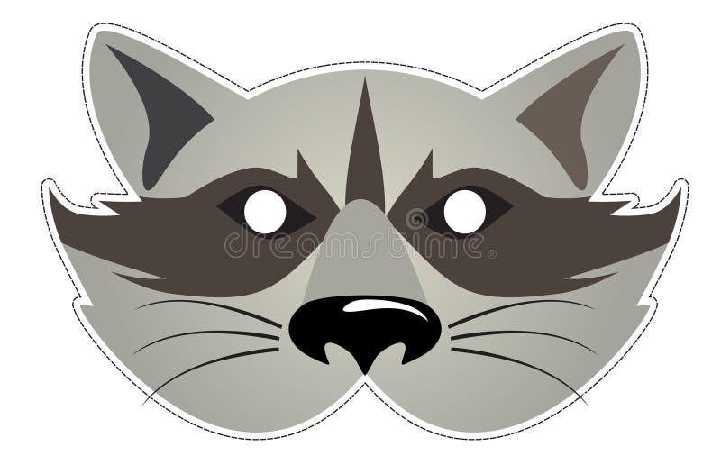 Mask Raccoon stock vector. Image of festival, illustration ... Raccoon Eye Mask