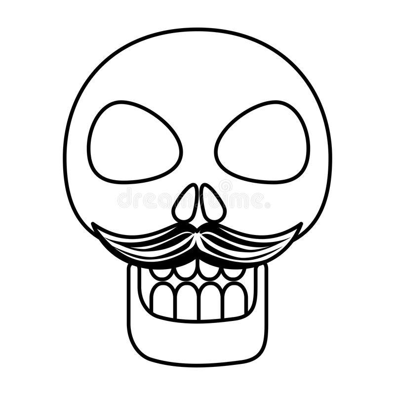 Mask of the santa death with mustache vector illustration