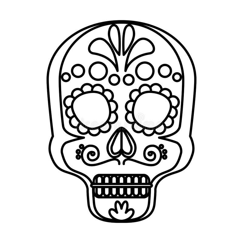 Mask of the santa death stock illustration