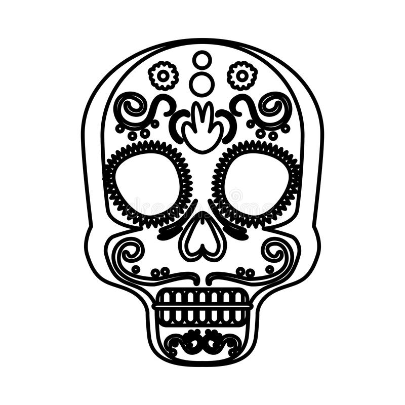 Mask of the santa death vector illustration