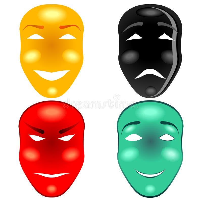 Download Mask set stock illustration. Illustration of ghost, illustration - 24943218