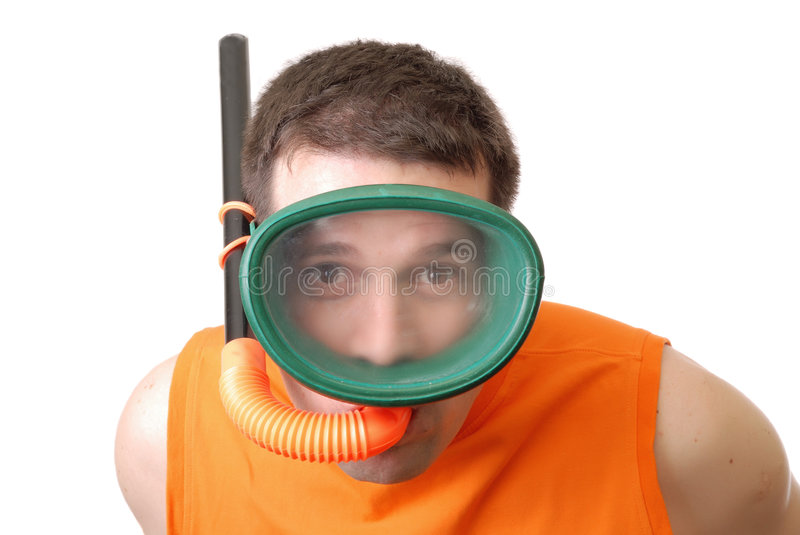 Mask and snorkel royalty free stock images