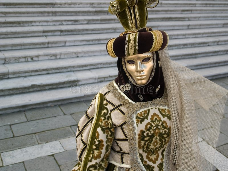 Mask at Venice Carnival stock photo