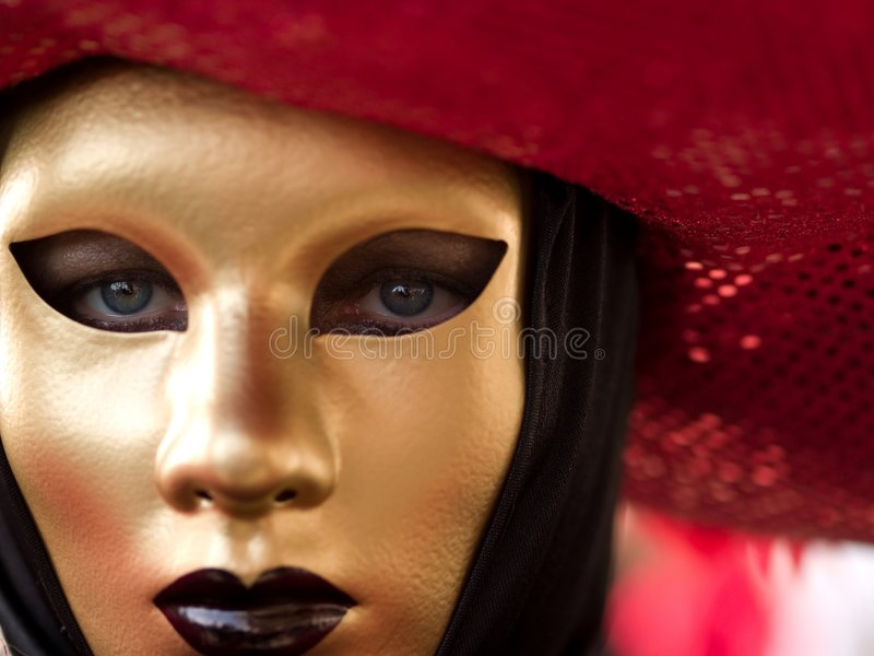 Mask at Venice Carnival royalty free stock photo