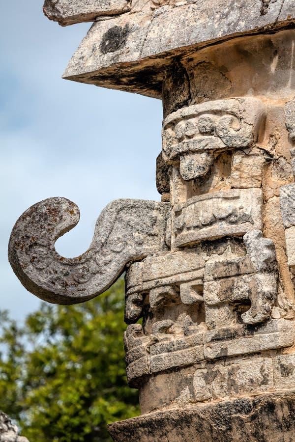 Maska Chac Antyczny Majski bóg deszcz i błyskawica zdjęcia stock