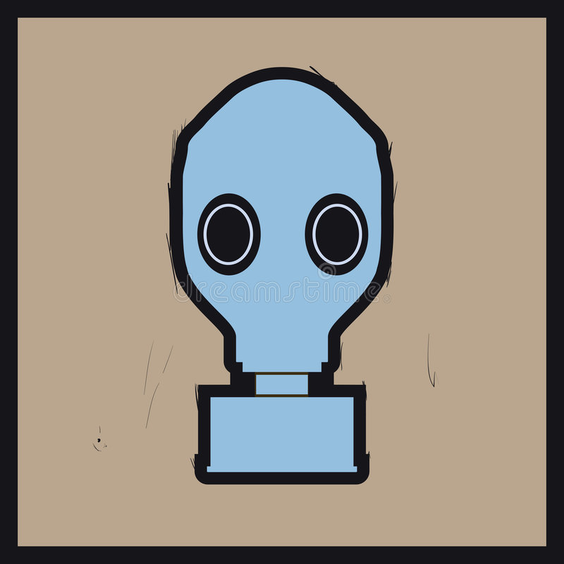 maska gazowa ilustracji