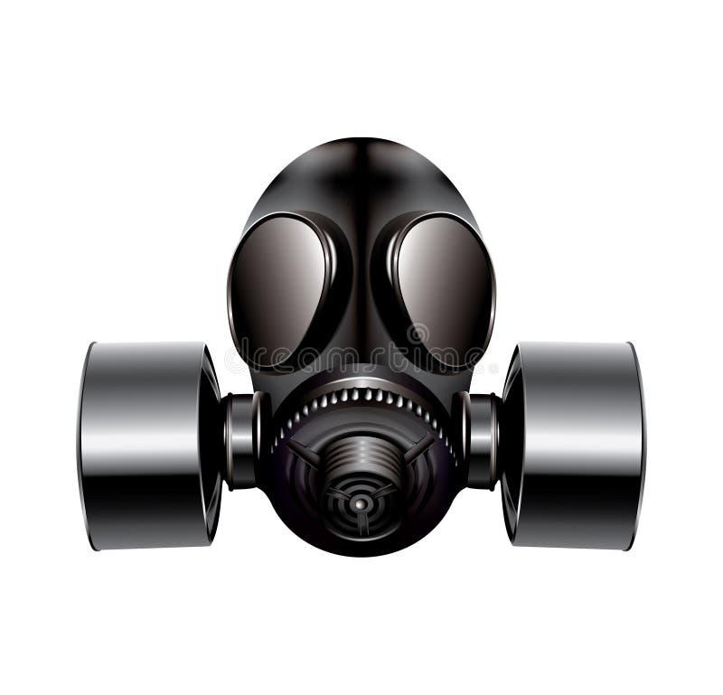 Maska gazowa na biały tle royalty ilustracja
