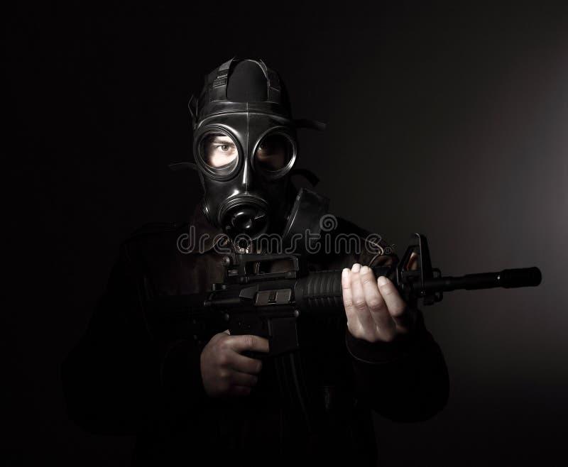 maska gazowa terrorysta zdjęcia stock