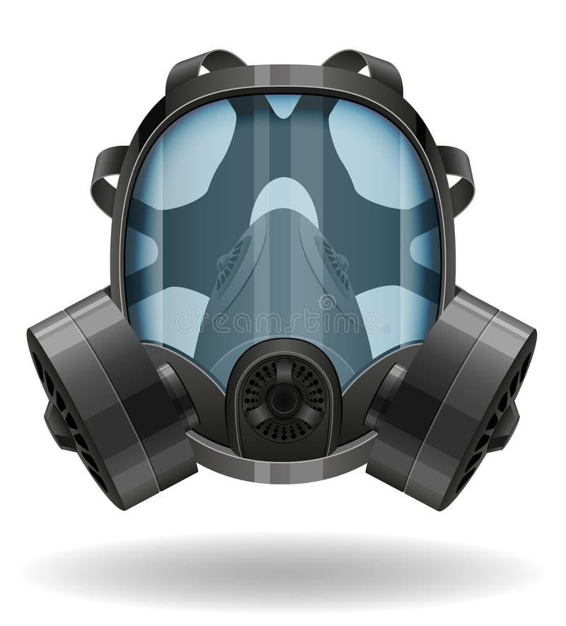 Maska gazowa wektoru ilustracja ilustracja wektor