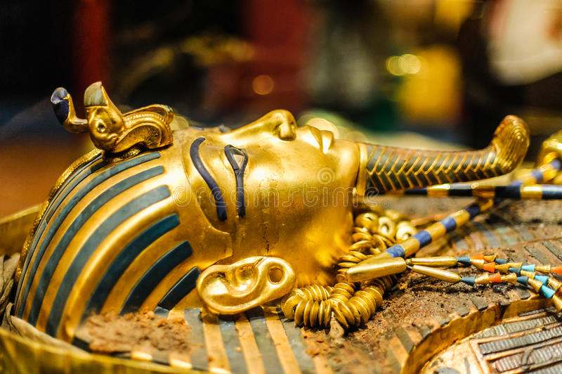 Maska pharaoh Tutankhamun fotografia stock