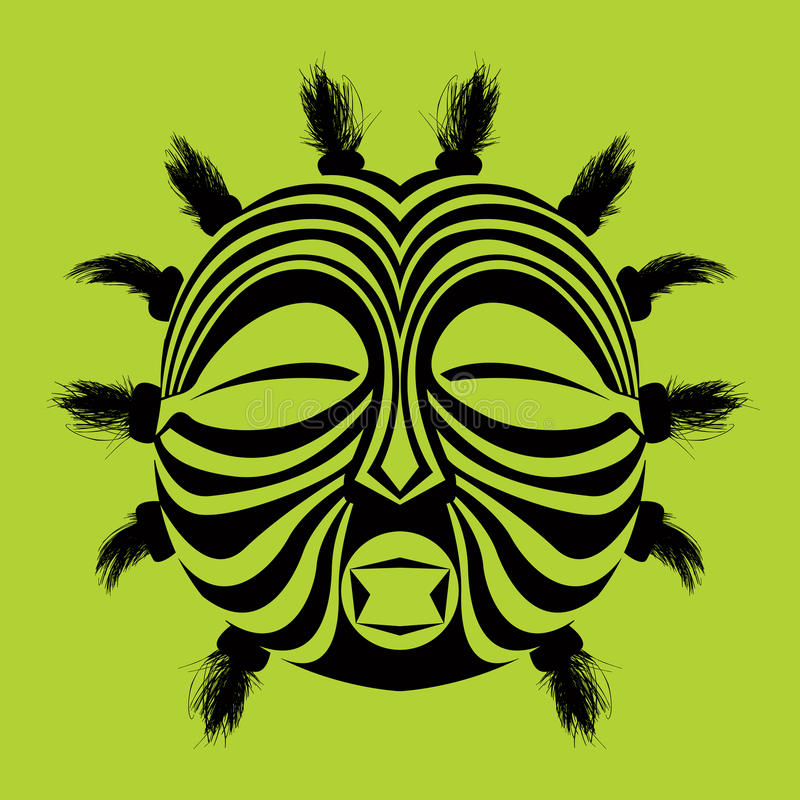 maska plemienny ilustracji