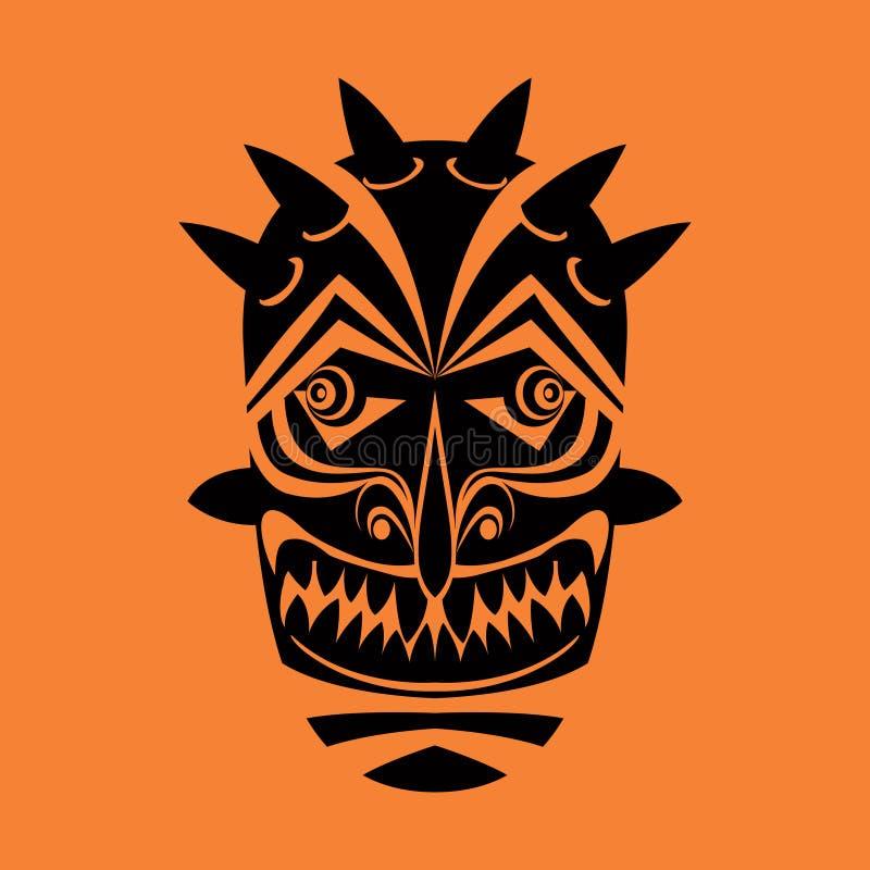 maska plemienny royalty ilustracja