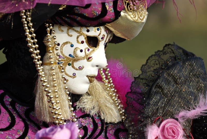 maska profil venetian fotografia stock
