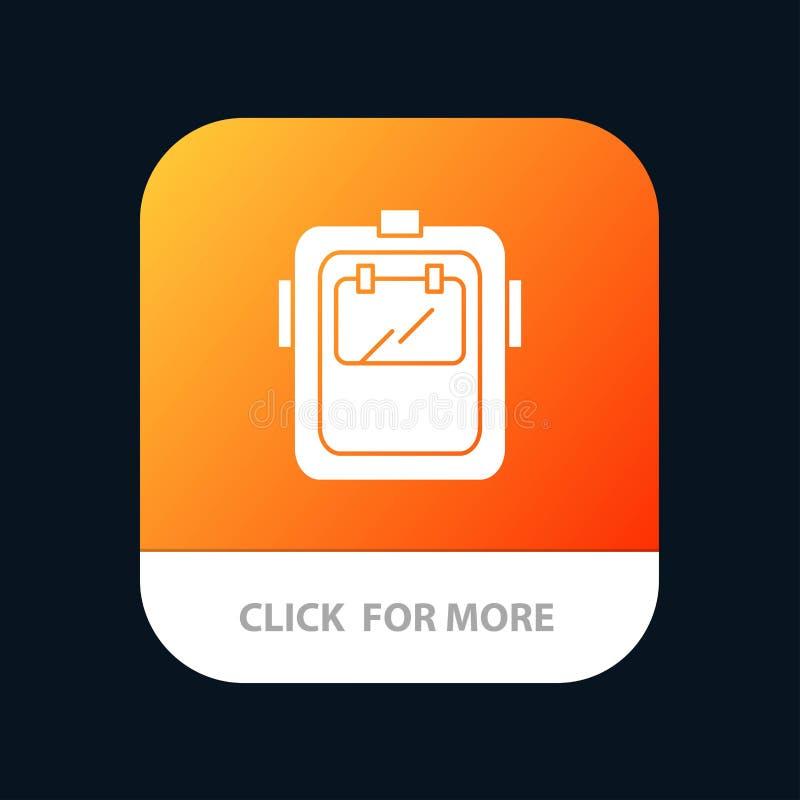 Maska, spaw, ochrona, spawacz, kłobuku App Mobilny guzik Android i IOS glifu wersja ilustracji