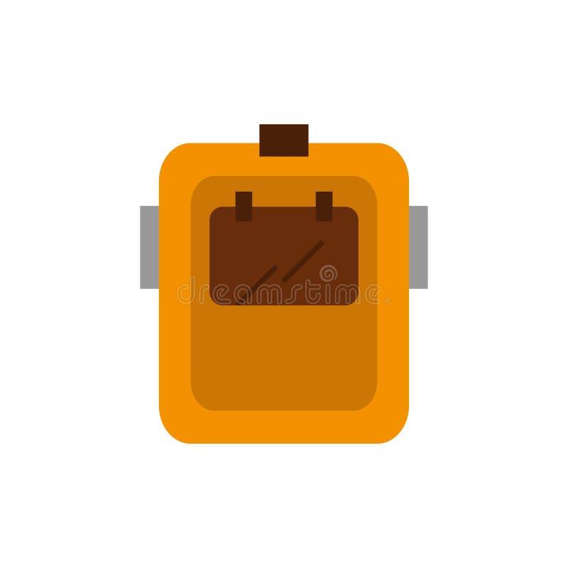 Maska, spaw, ochrona, spawacz, kłobuku koloru Płaska ikona Wektorowy ikona sztandaru szablon royalty ilustracja