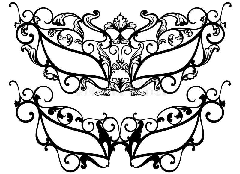 Maskarad maski royalty ilustracja