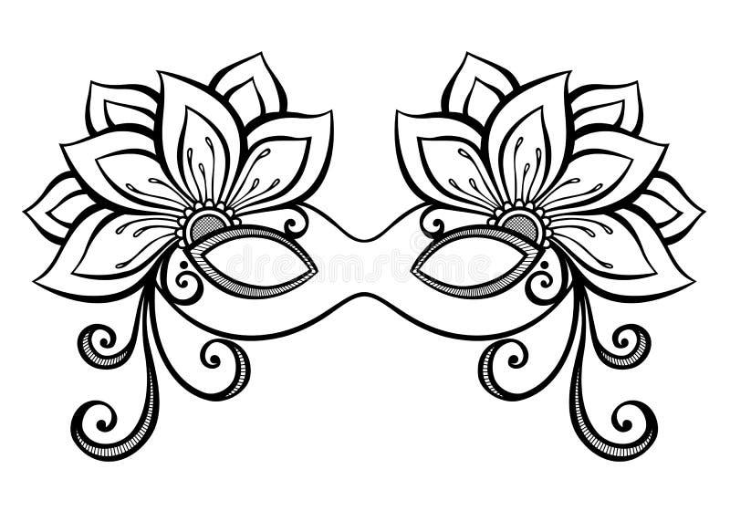 Maskaradowa maska ilustracja wektor
