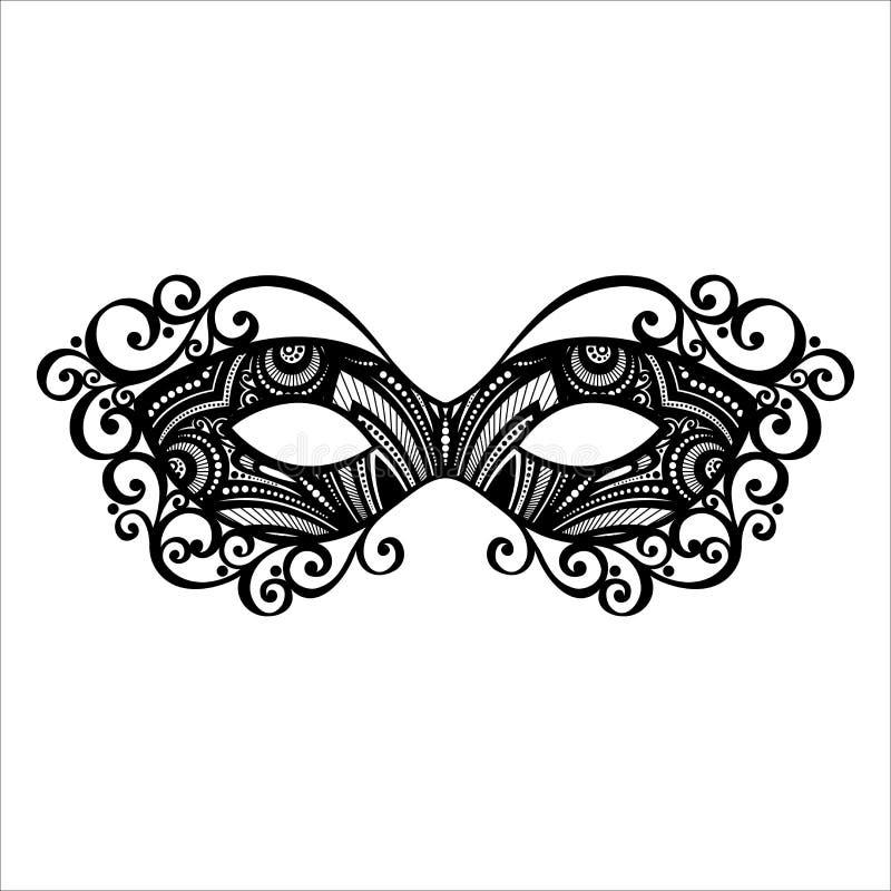 Maskaradowa maska royalty ilustracja