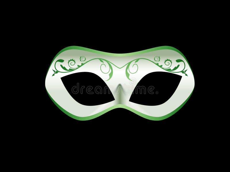 Maskaradowa maska odizolowywaj?ca na ciemnym tle Karnawa?, przyj?cie, ?wi?towanie symbol projekta styl royalty ilustracja