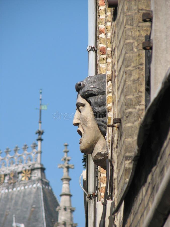 Maskaron in Brüssel stockfoto