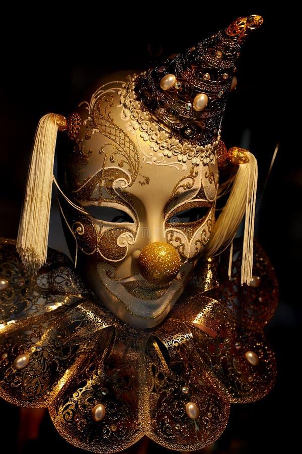Maske des Dummkopfs in der Kappe lizenzfreies stockfoto