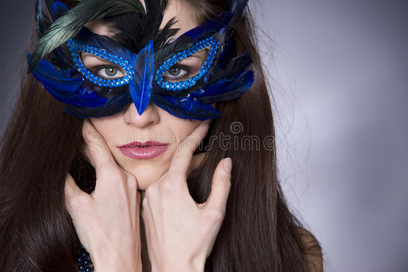 Masked Woman Masqurade Party Dress up stock image