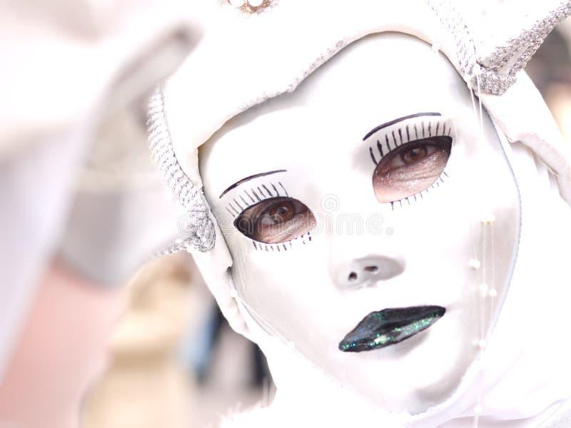 Masked Glance Royalty Free Stock Image