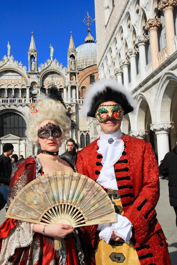 Download Masked Performers At Venice Carnival Editorial Stock Image - Image of cloak, event: 20779339