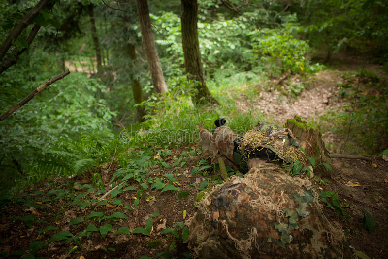 Download Masked sniper stock image. Image of attack, fire, forest - 34446553