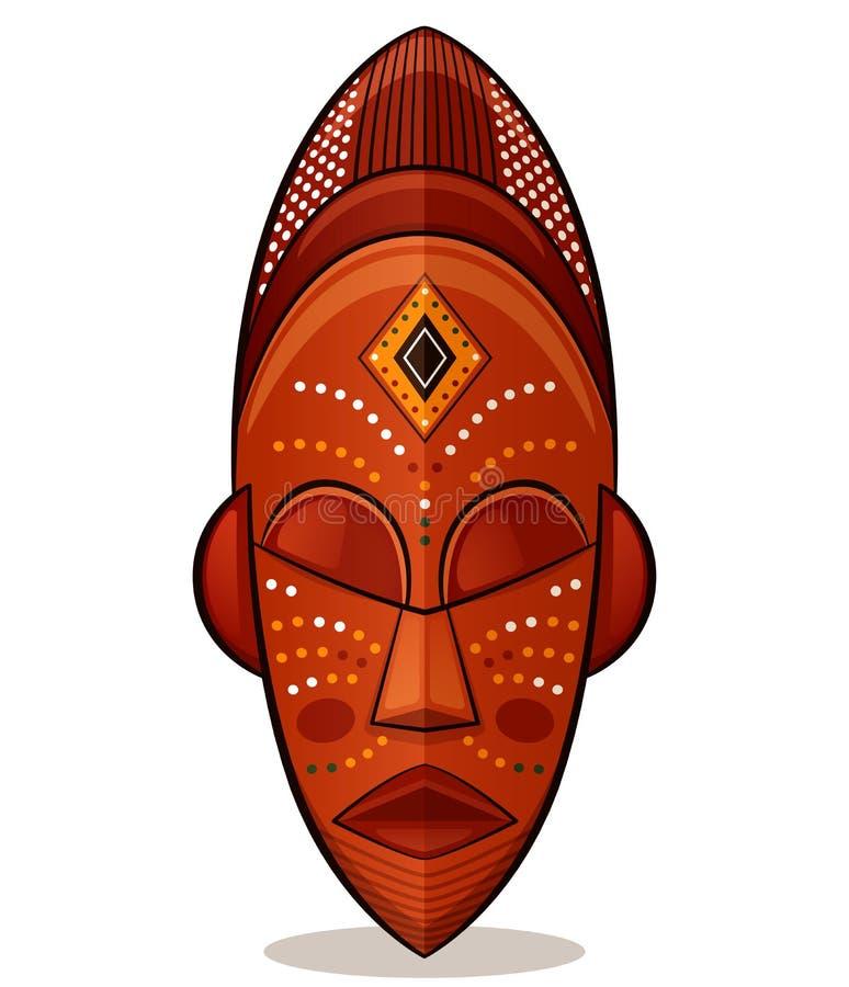 Masken-Holzkonzept des Vektors afrikanisches stock abbildung