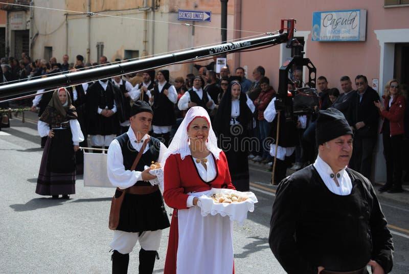 Masken von Sardinien lizenzfreie stockfotografie