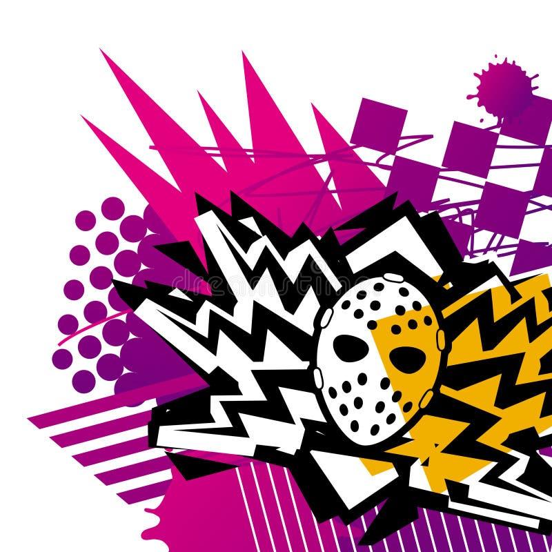 Masker en Bliksem vector illustratie