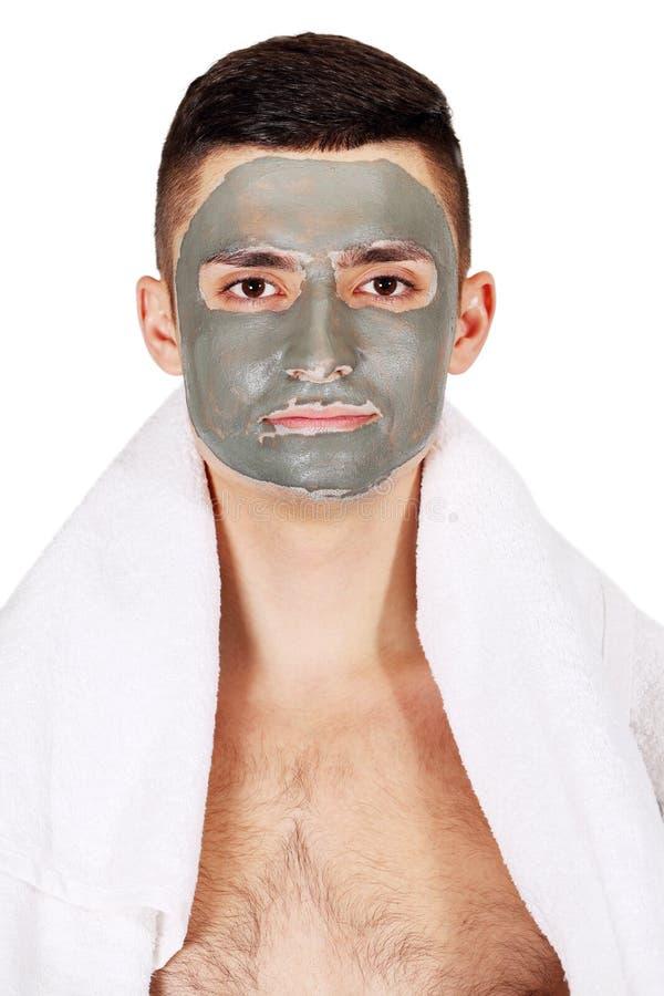 Masker op gezicht royalty-vrije stock afbeeldingen