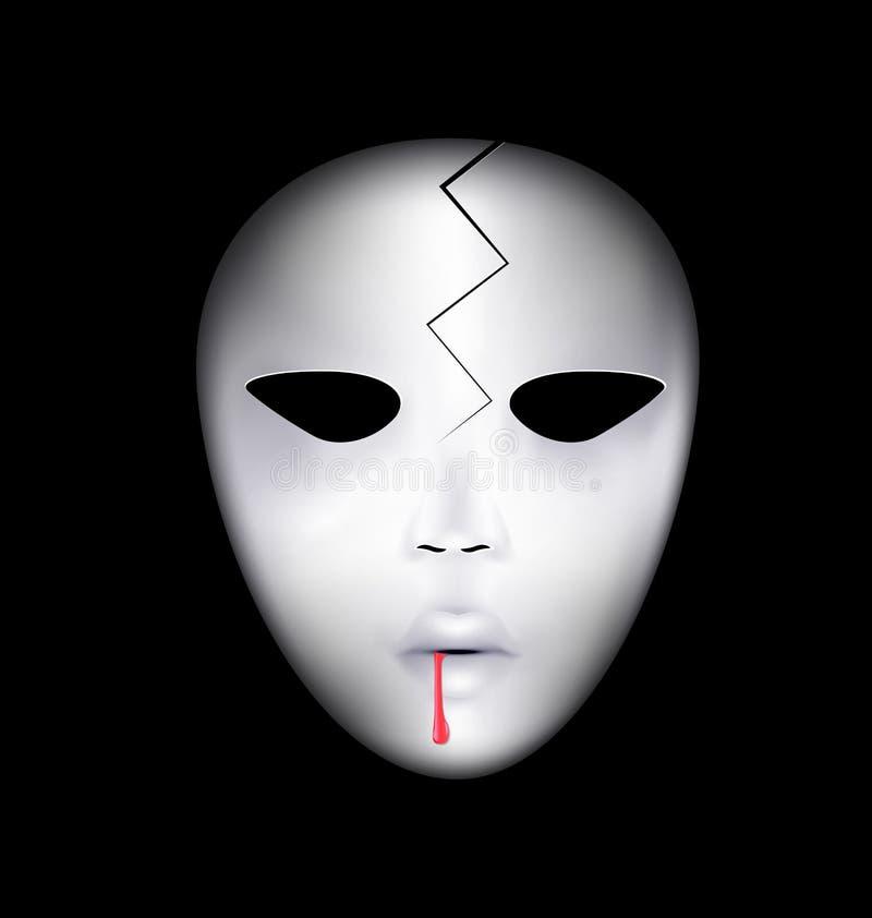 Masker van gebroken gezicht stock illustratie